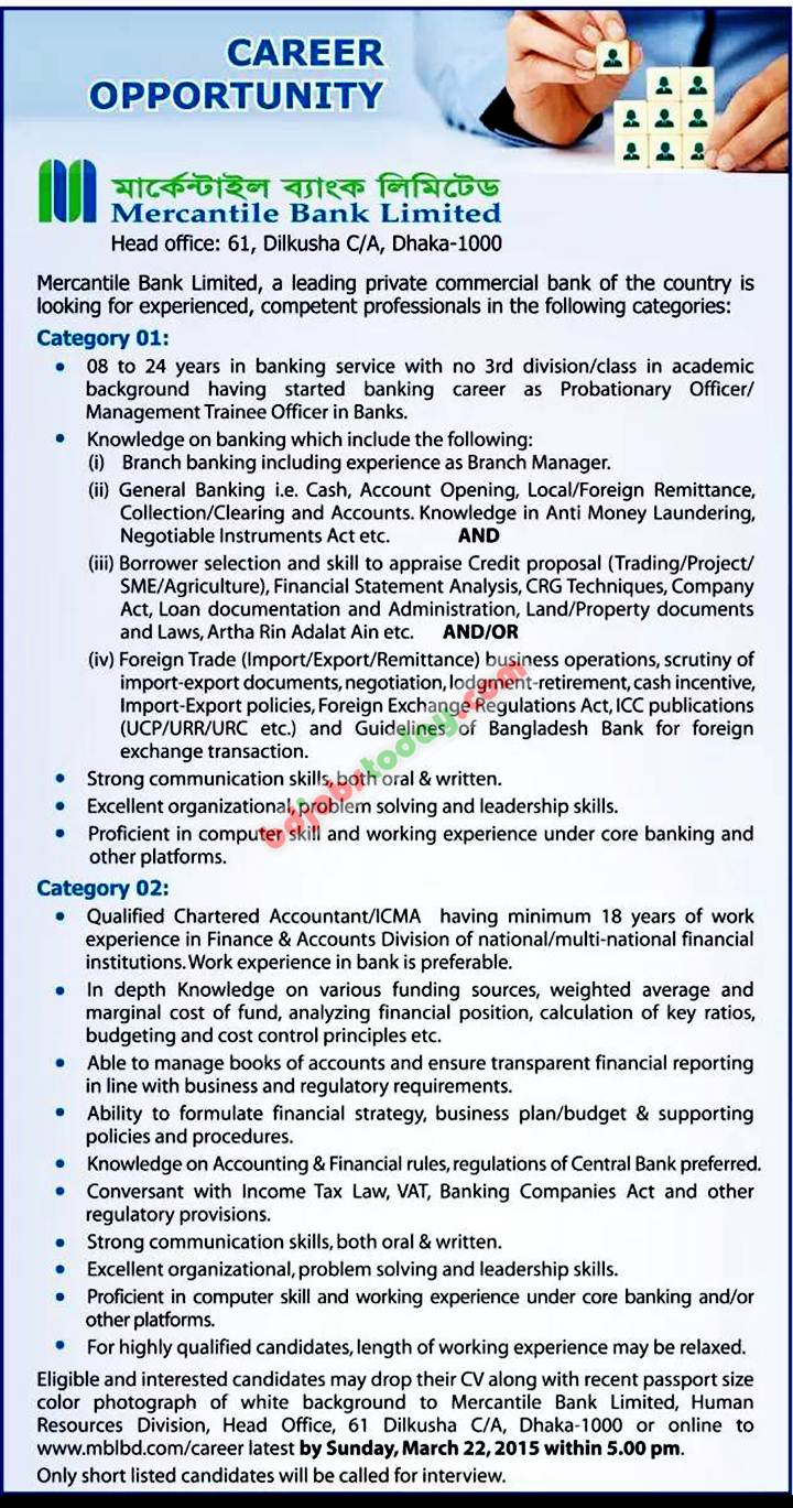 human resource policy of mercantile bank bangladesh Tamilnad mercantile bank limited has invited applications from the eligible  candidates for the  human resources development department.