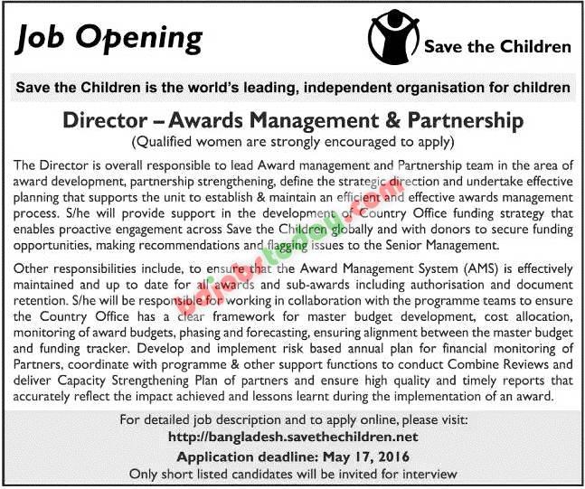 save the children director awards management and partnership jobs. Black Bedroom Furniture Sets. Home Design Ideas