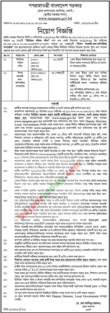 Office of District Judge, Naogaon jobs