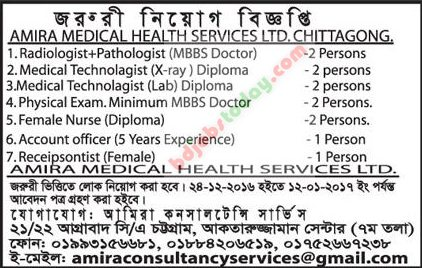Amira Medical Health Services Ltd jobs