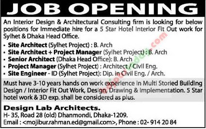 Design Lab Architects jobs