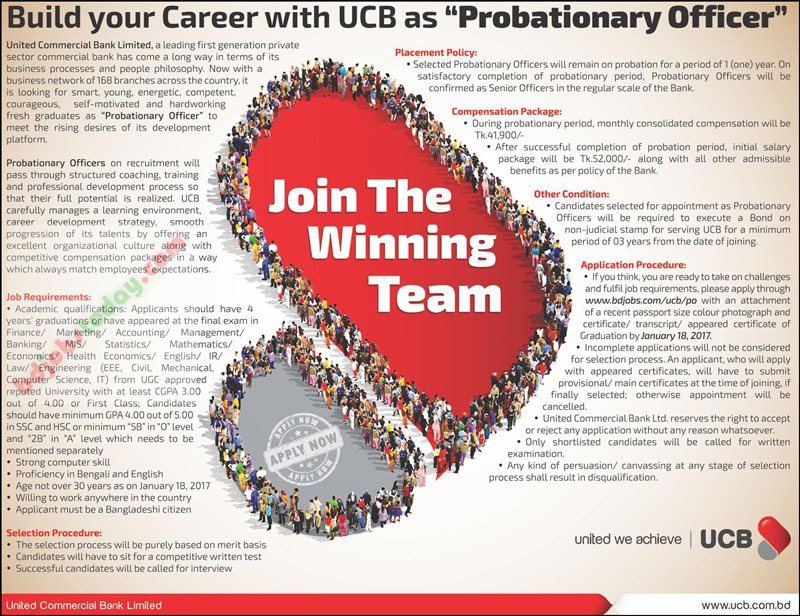 United Commercial Bank Ltd -UCB jobs