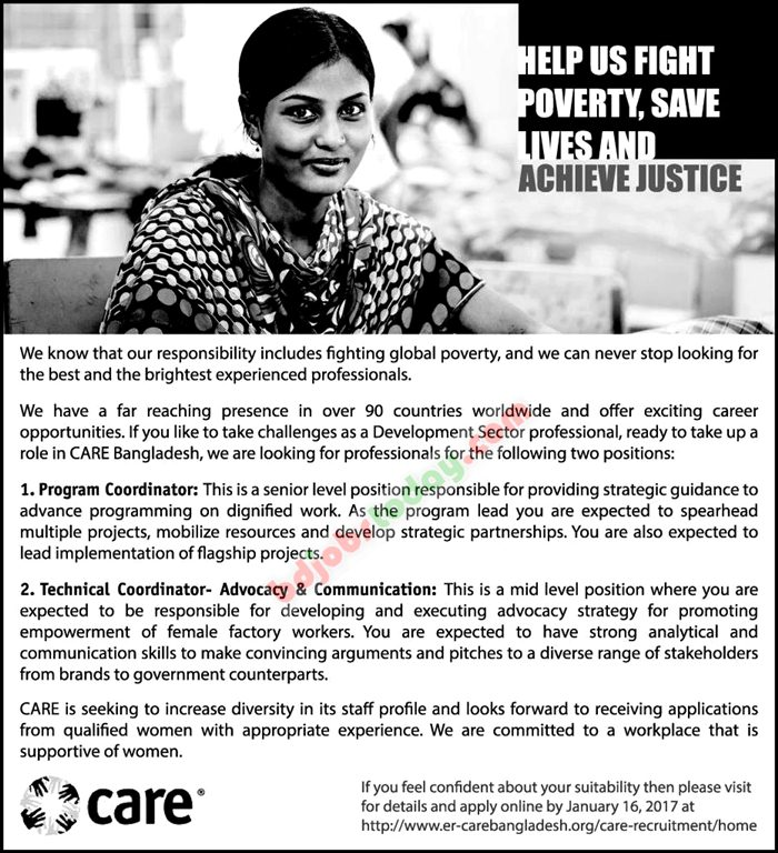 Care Bangladesh jobs
