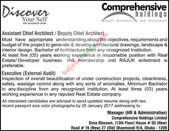 Comprehensive Holdings Limited jobs