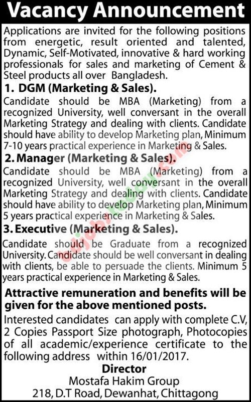 Mostofa Hakim Group jobs