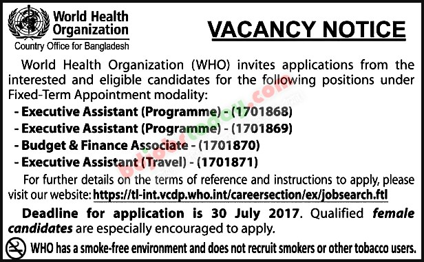 World Health Organization-WHO jobs