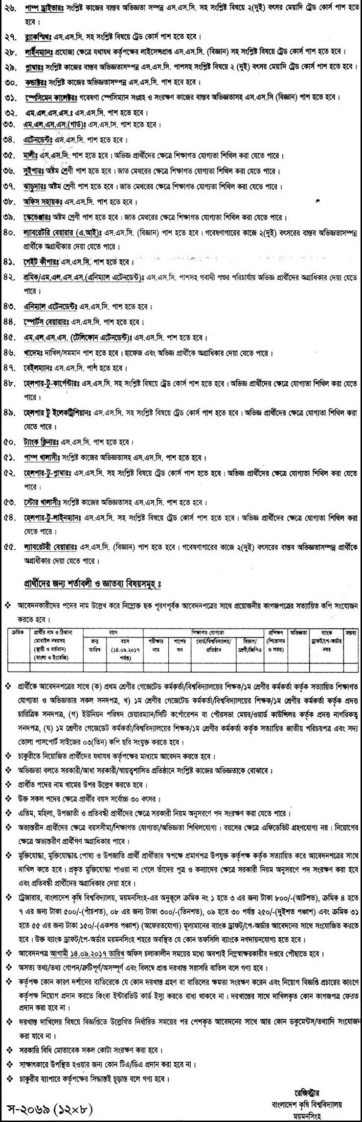 job location mymensingh