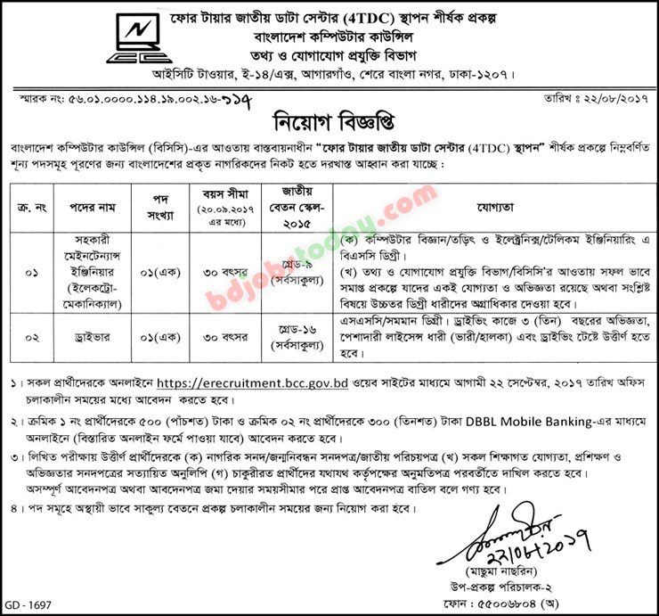 Bangladesh Computer Council-BCC jobs