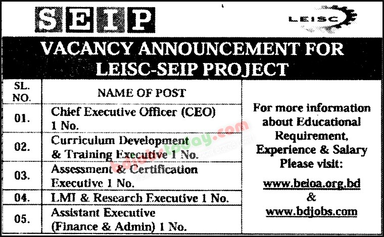 Curriculum Development And Training Executive Job Bangladesh