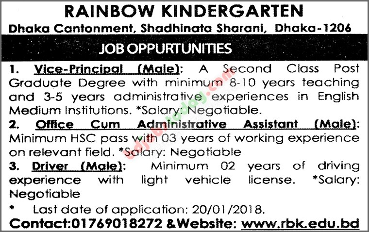 Rainbow Kindergarten jobs