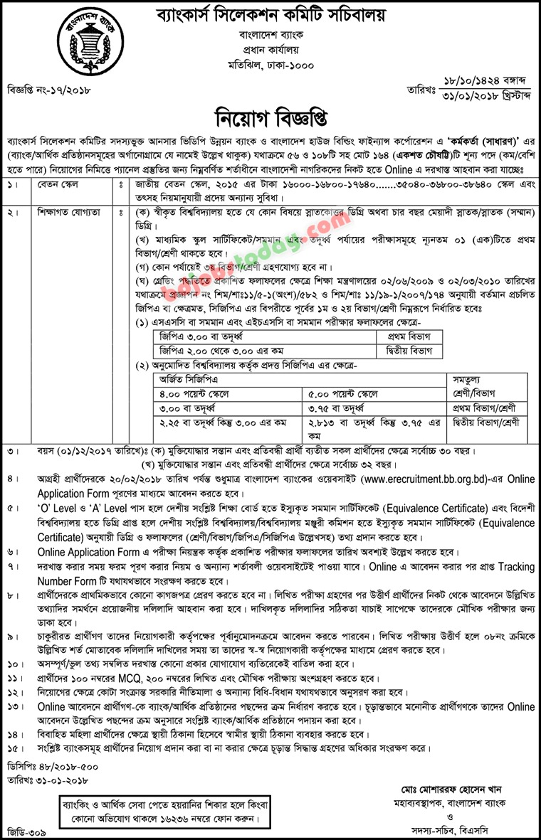 Bankers Selection Committee jobs