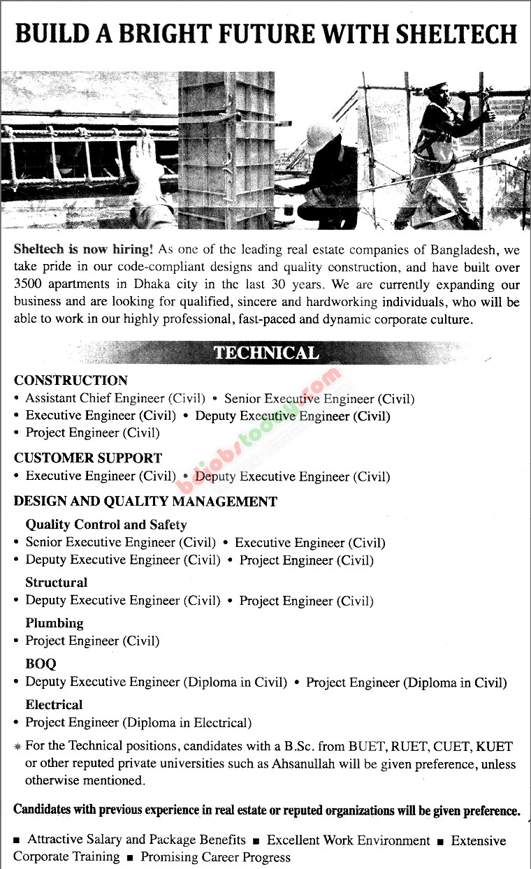 Sheltech (PVT) Limited jobs