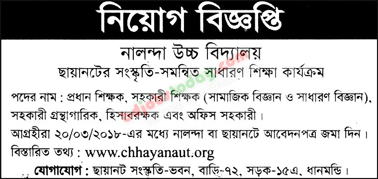 Nalanda High School jobs