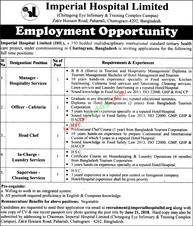 Imperial Hospital Ltd jobs