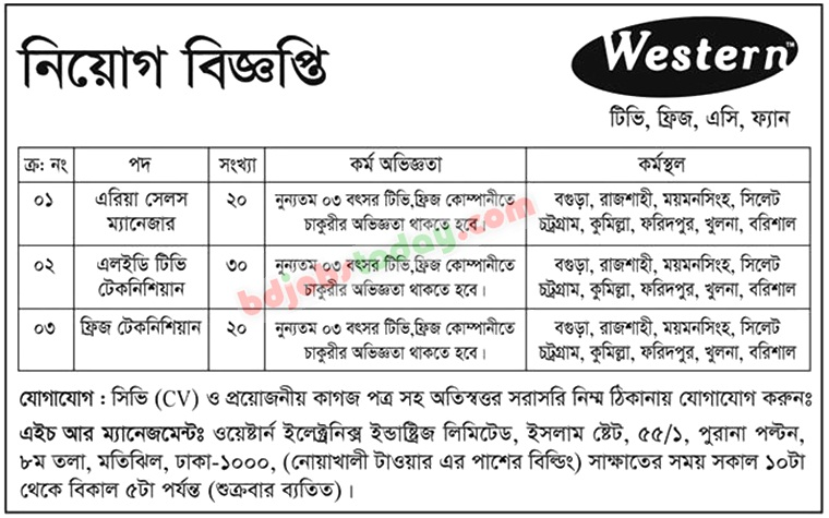 Western Electronics Industries Limited jobs