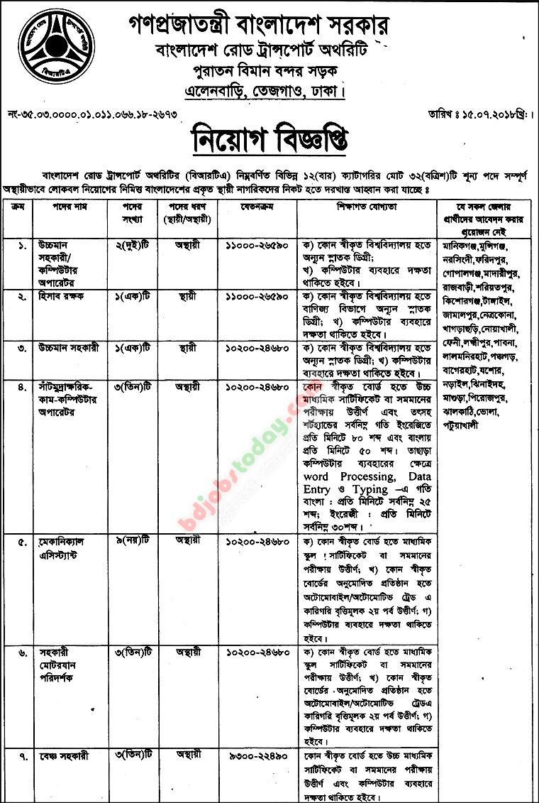 Bench Assistant Job Bangladesh : Mobile Version