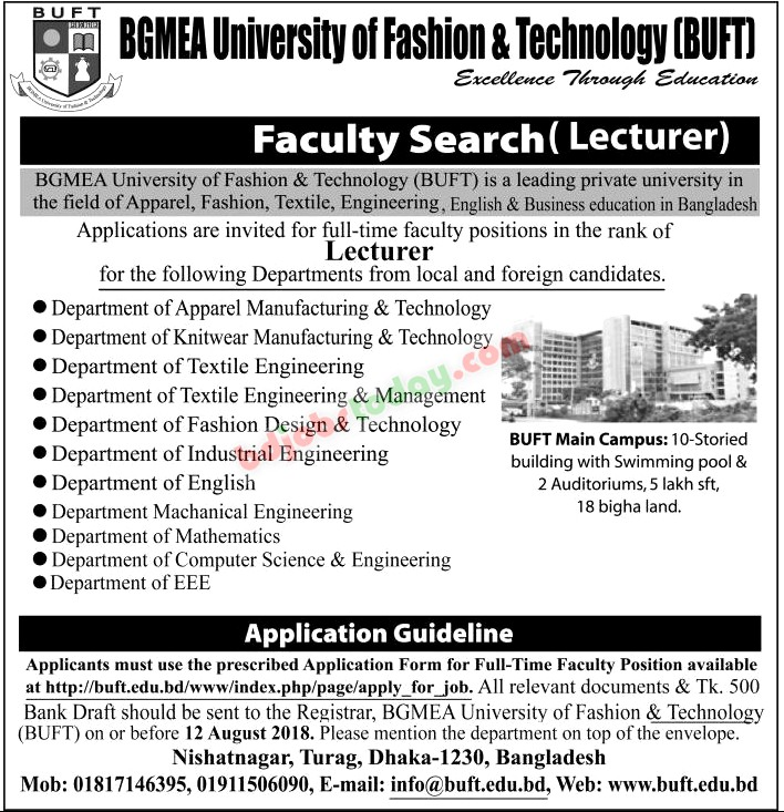 Lecturer Fashion Design And Technology Job Bangladesh Mobile Version