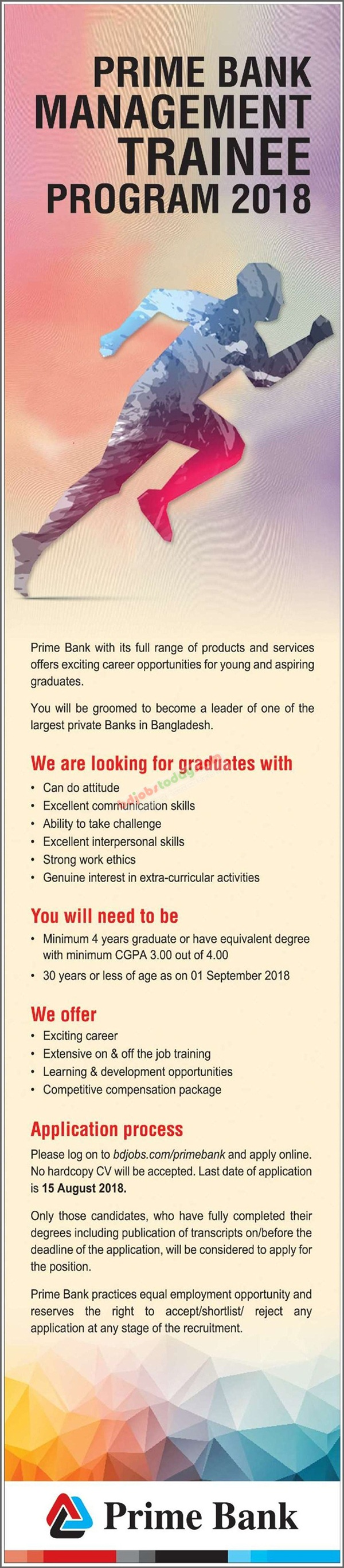 Prime Bank Limited jobs