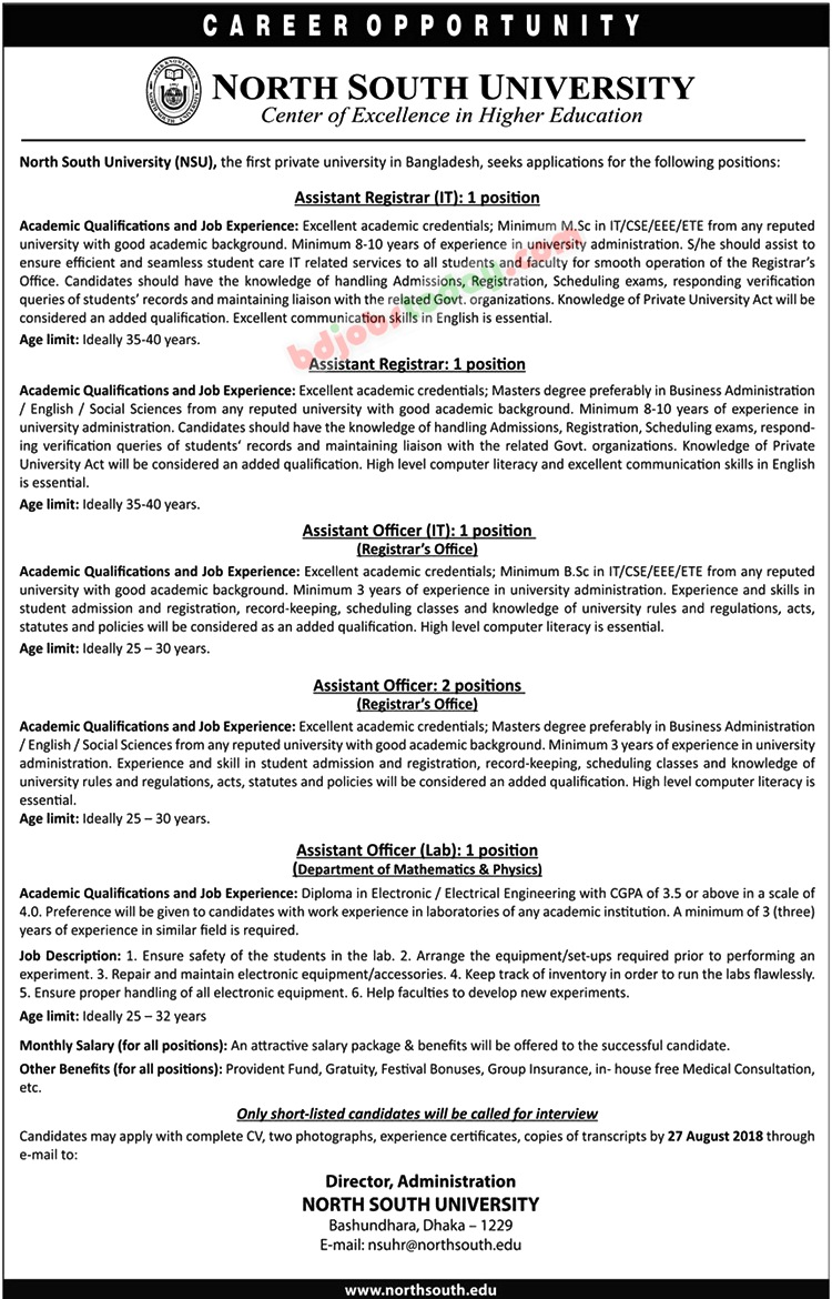 North South University jobs