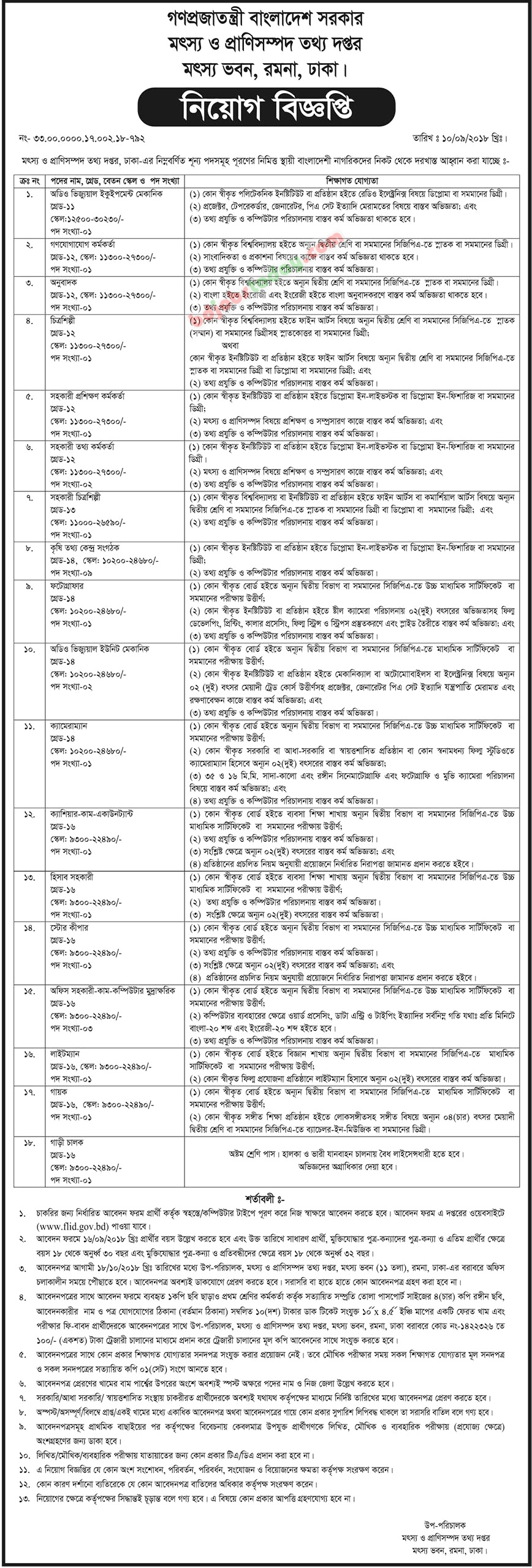 Fisheries and Livestock Information Department jobs