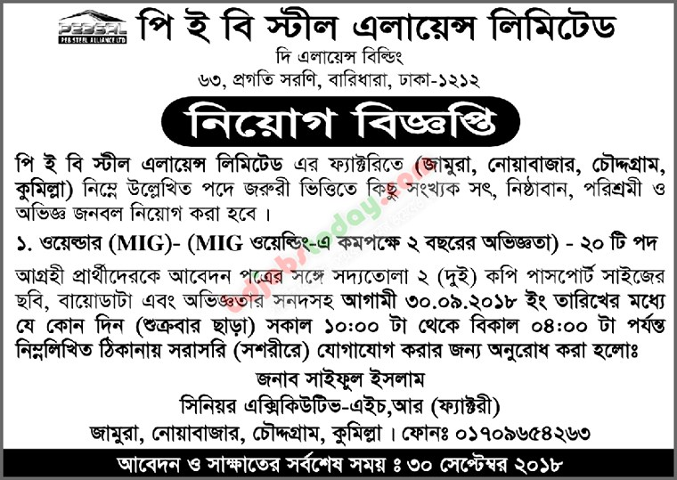 Welder Job Bangladesh : Mobile Version