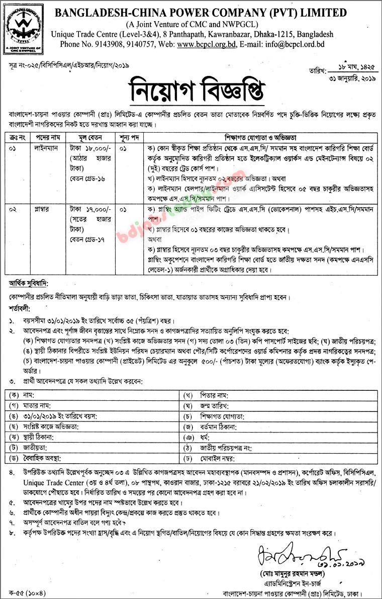 Lineman Job Bangladesh : Mobile Version